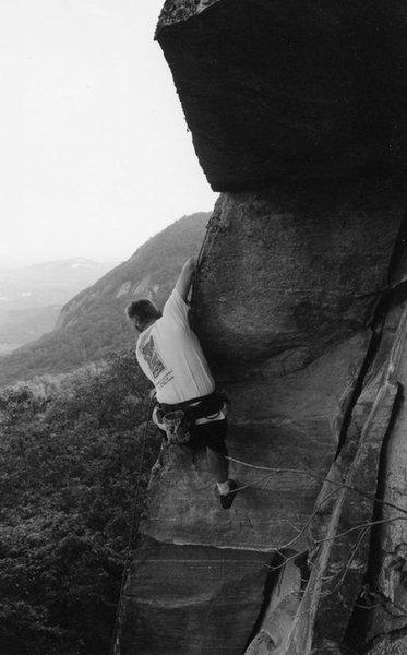 Sean in Purgatory.  Looking towards Main Wall and Cougar Crag.