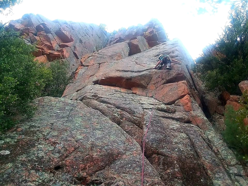 Tom Bowker on the first ascent of Maine-iac.