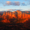 Summit sunset on Courthouse Butte