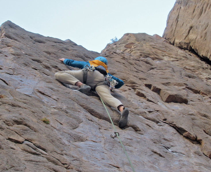 the gazelle almost at the crux
