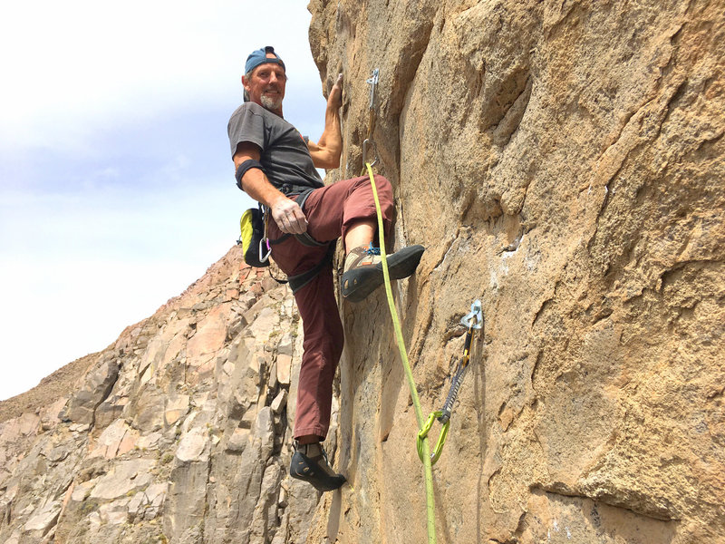 Starting up the first ascent of Business Time