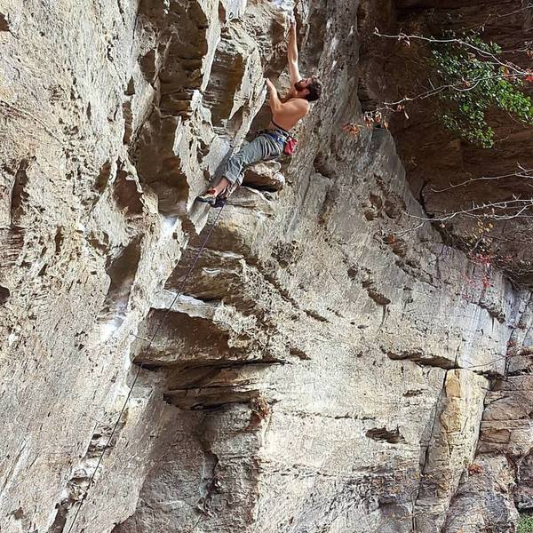 Soaking up this beautiful line after the crux