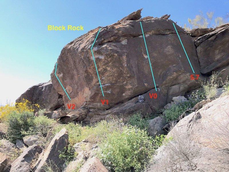 Fun short boulder uphill near Hooker Boulder