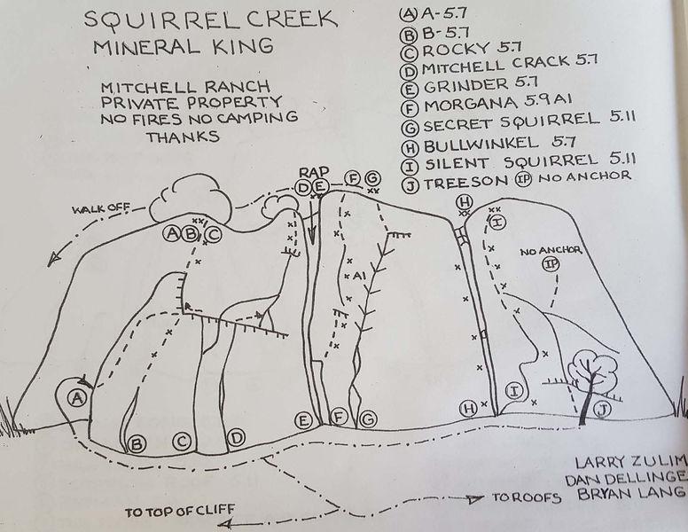 Left side of Squirrel Creek