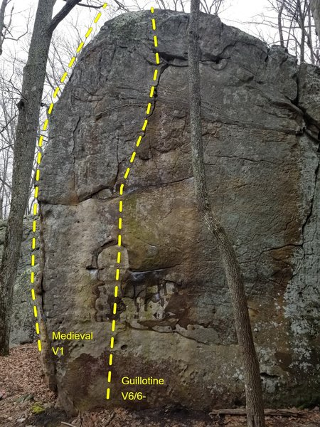 Guillotine area. The Guillotine V6 and Medieval V1