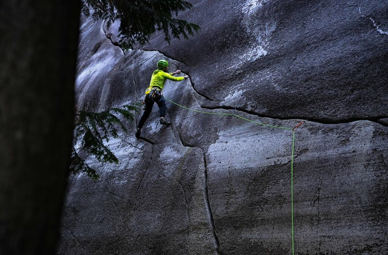 Unknown climber on P1