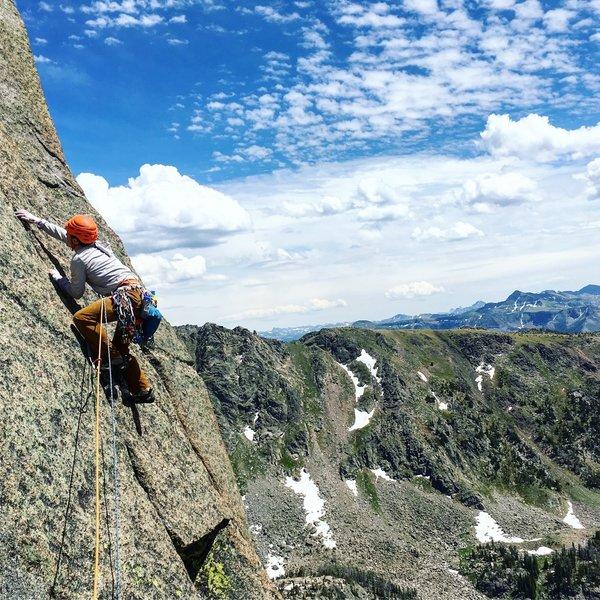 Climbing up high on the Centennial Route
