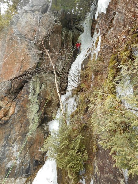 The route is longer and steeper than it appears from below