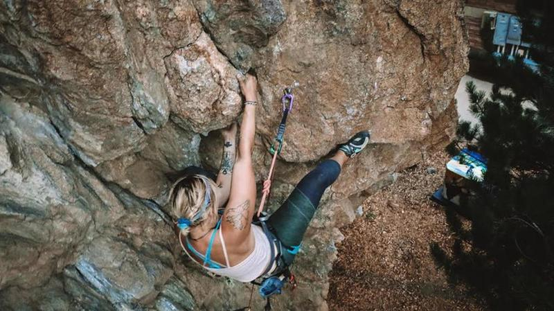 Working the crux on Bare Necessities.