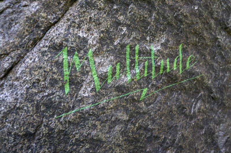 Painted name art at Little Babylon