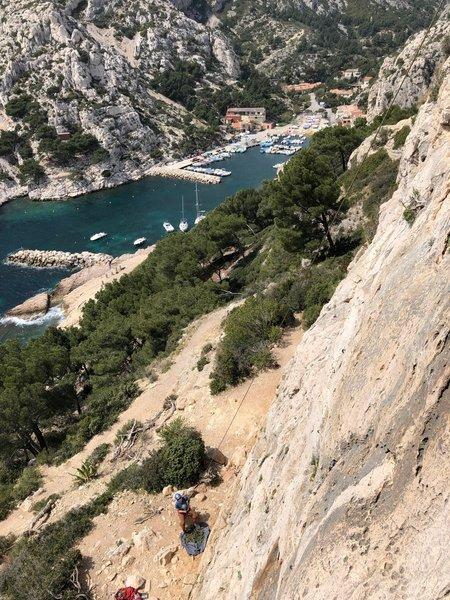 Climbing at L'Abri Cotier