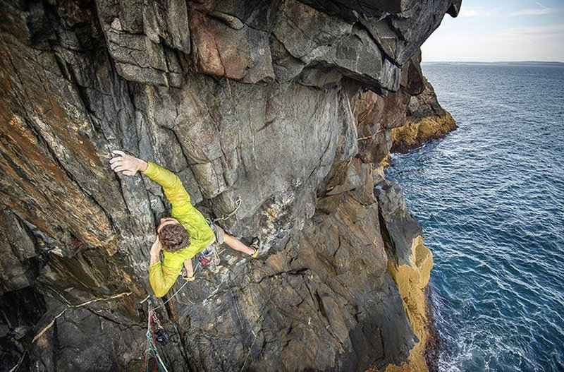 Matt Milone photo, Jared Heath climbing