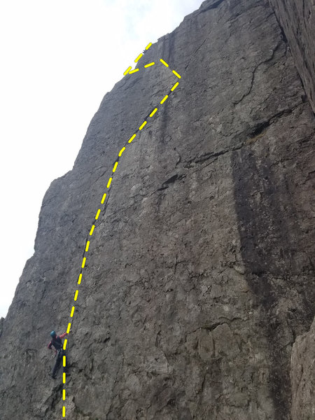 Left Wall, Dinas Cromlech<br> <br> Direct finish is said to add a grade