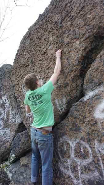 Climbing at Avery Boulder