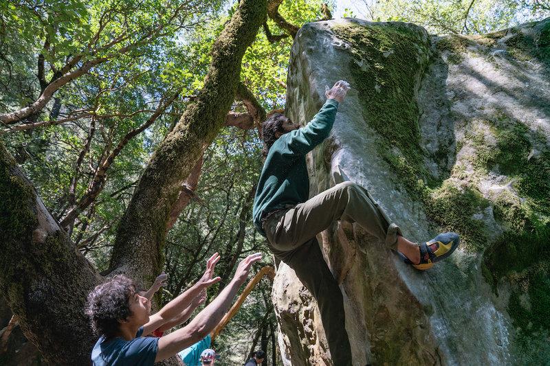 Working the Nature Nazi Arete (v7-)<br> <br> Photo by Dalton Johnson Media<br> @daltonjohnsonmedia<br> www.daltonjohnsonmedia.com