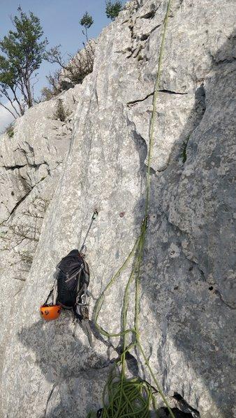 Bolts at the summit