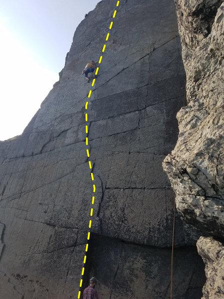 Sinecure (E1 5b), Yellow Wall, Carreg-y-Barcud, North Pembroke