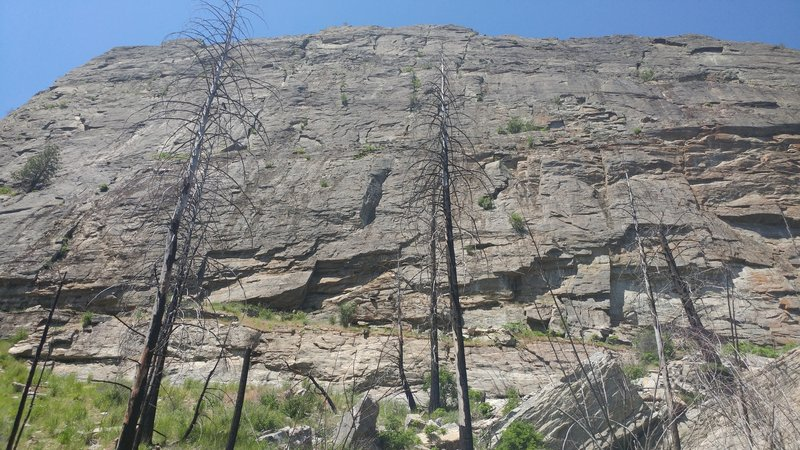 Main Canyon, left of the Dihedral route.