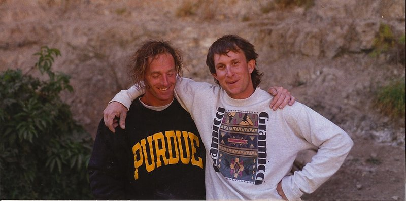 Greg Martin and Mike Duncan back to back redpoint, '94.