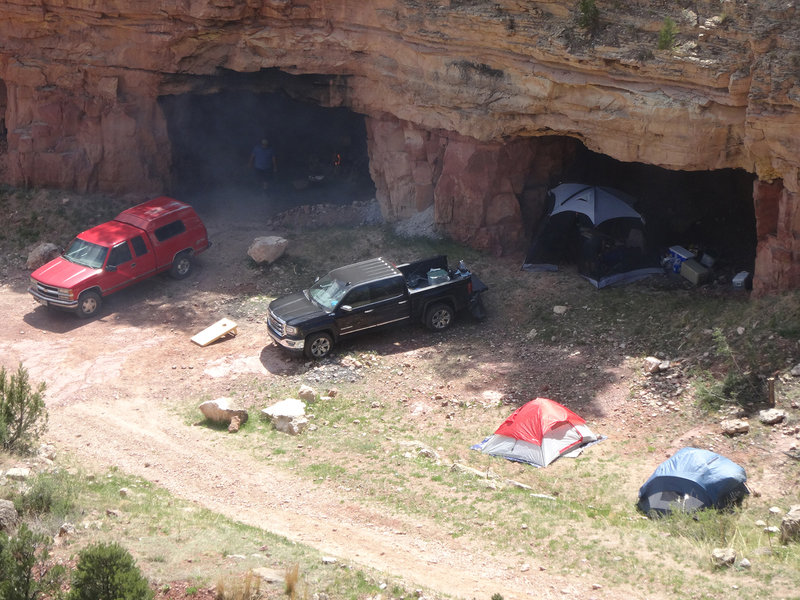 Campers at the Quarry Walls.