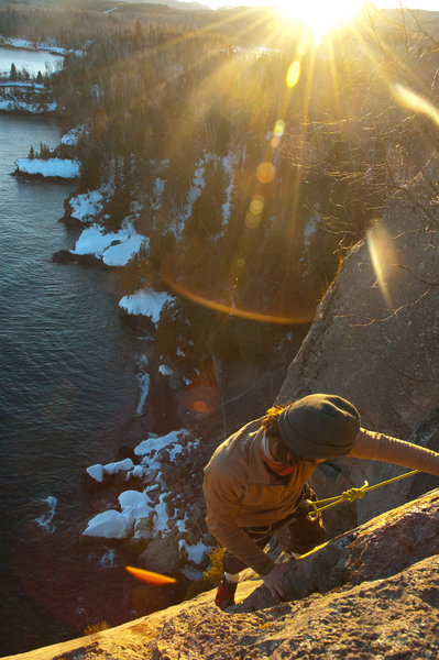Casey topping out on Fairies.<br> <br> Photo: Logan Dop