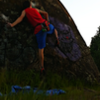 "The first ascent of ""Powerslab"" V7"