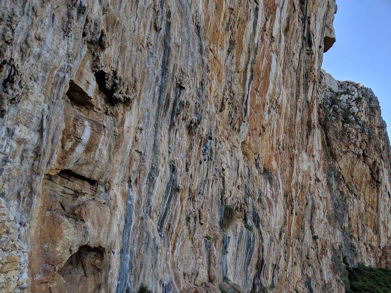 Local climber on Bella Susanna