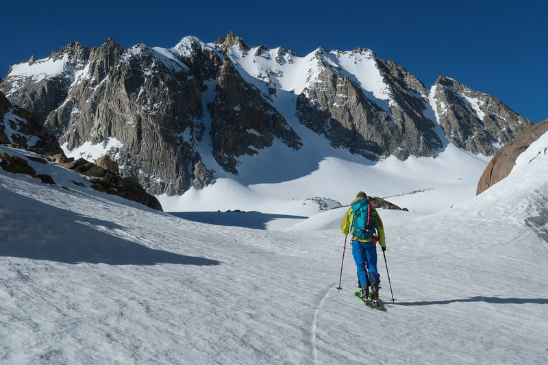Approaching Thunderbolt Peak in the spring