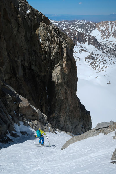 Skiing the U Notch