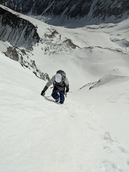 Heading up the upper section.