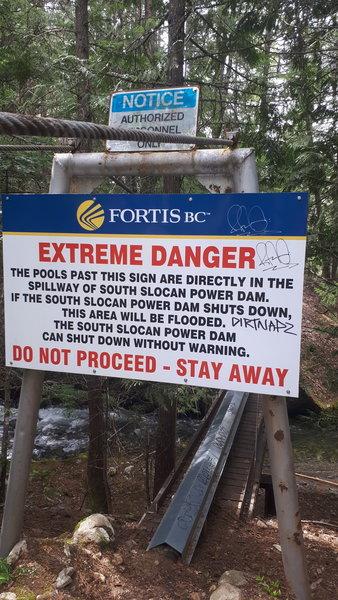 Warning sign.