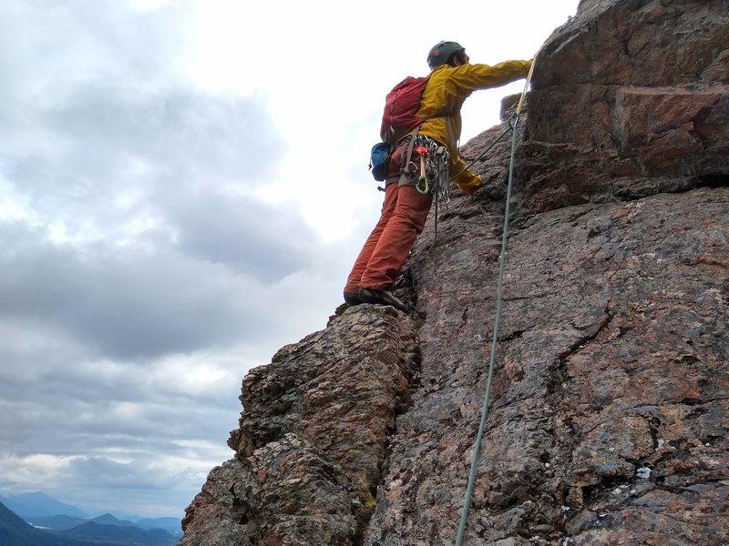 Climber on P6