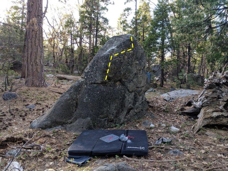 Backside of Warmup Boulder