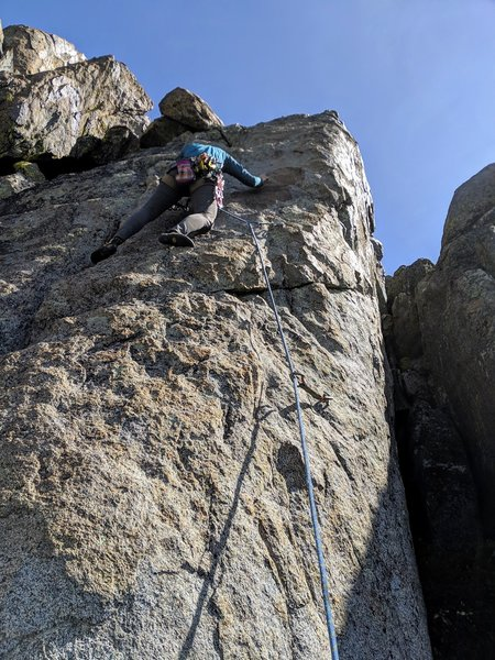 Amilash just above bolt two on Dog and a Grigri