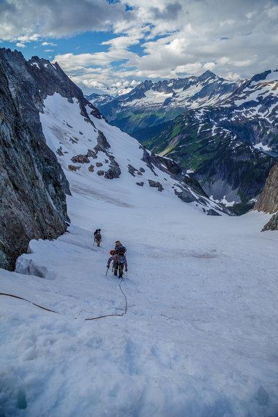 Heading up Cache Glacier