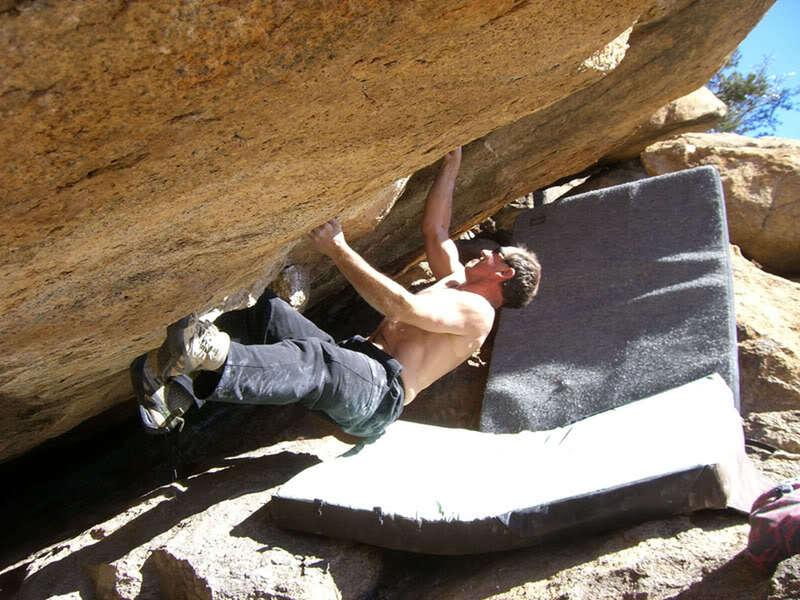 Bouldering at the Granite Dells