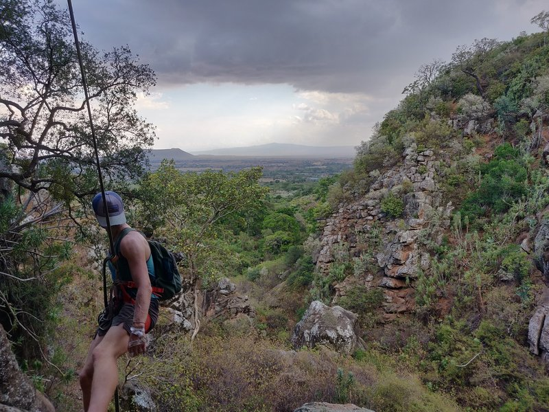 Looking out over the Rift Valley from the top of P1.