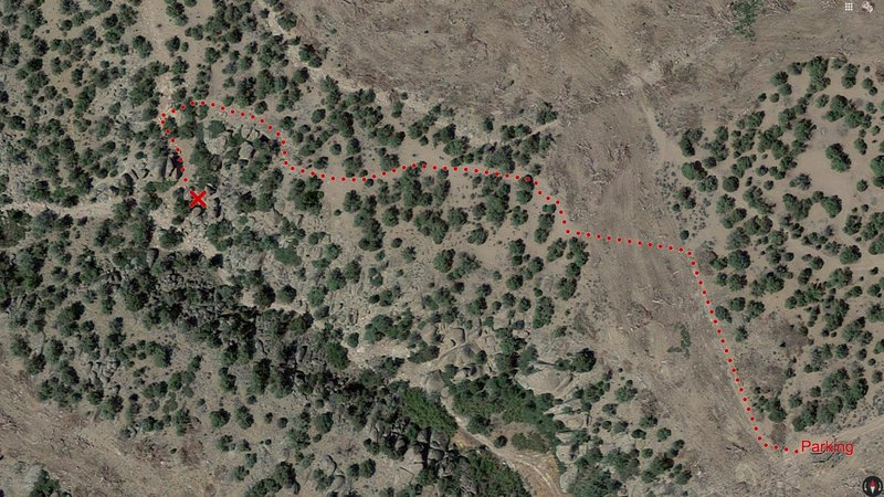 Swett Hills approach trail to Mega Marvels area