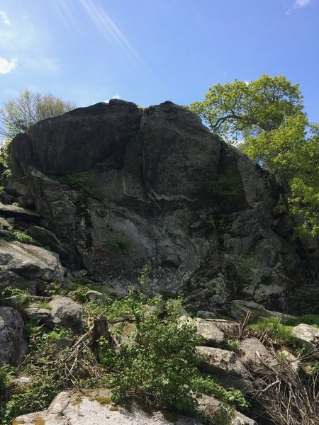 View of the overlook from the boulder