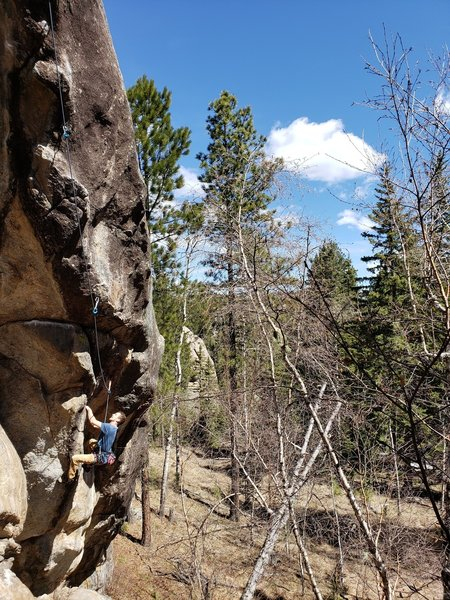 Andrew just after the initial boulder problem