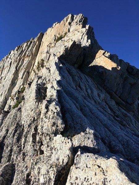 Upward section of the ridge.