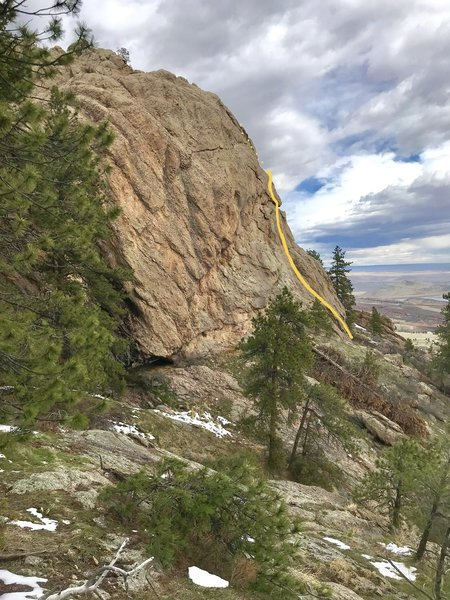 View from approach trail.