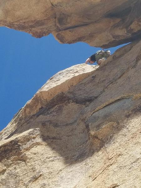 First pic of me about to finish my first 5.7 route! Won't forget it...will be back.