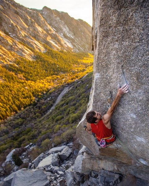 Ben Neilson photo of the redpoint crux