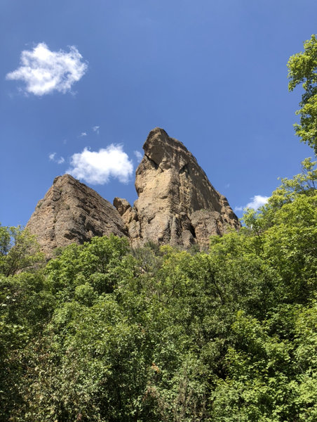 View of Heart Rock from the road