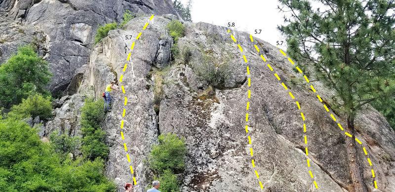 """South side of Little Matterhorn aka """"Kid Rock""""."""