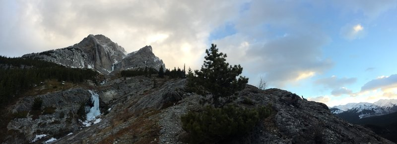 Mount Kidd and Kidd Falls