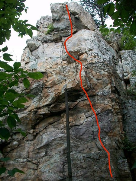 Unknown route up the overhanging prow