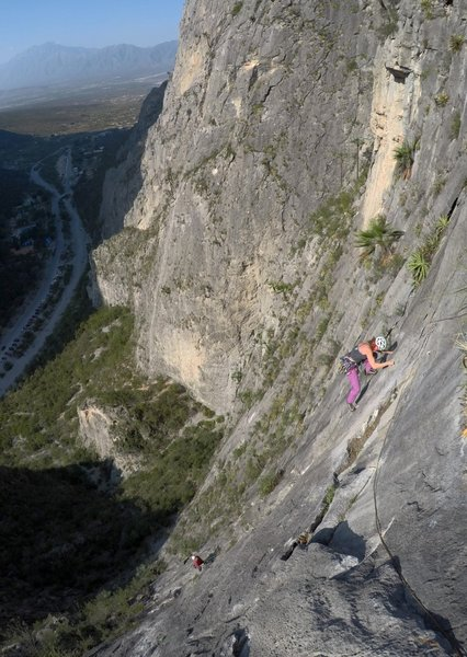 Top of P3 approaching the cable traverse