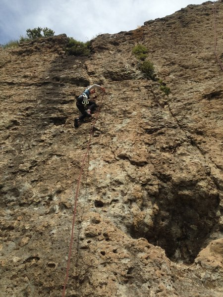 climber on route
